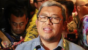 Gubernur Jawa Barat, Ahmad Heryawan, dalam press conference yang digelar di Media Center Utama (MCU) PON XIX/2016 Jabar, Trans Luxury Hotel, Gatot Subroto Bandung, Jumat %