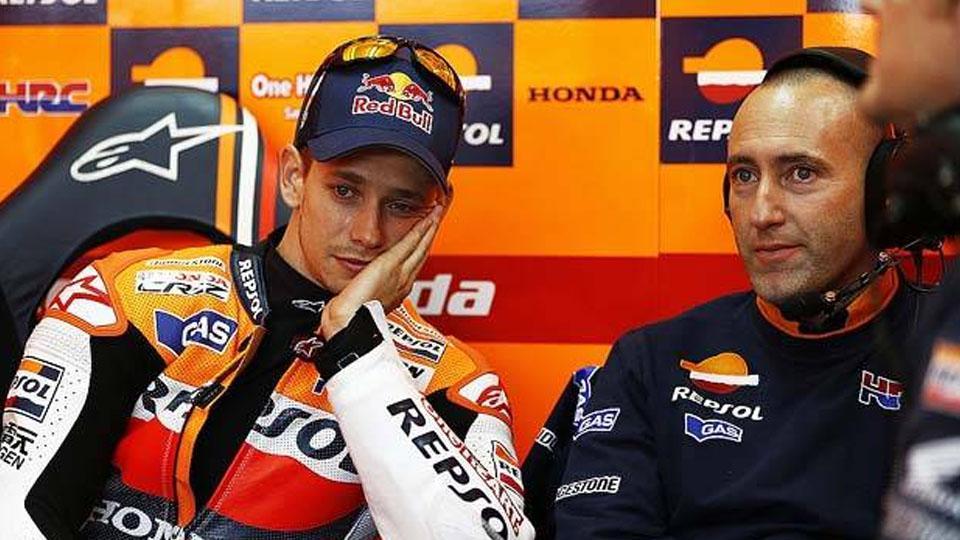 Cristian Gabbarini dan Casey Stoner ketika masih di Honda. Copyright: internet
