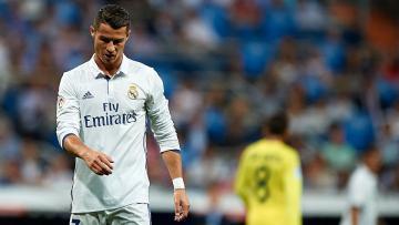 Cristiano Ronaldo terlihat lesu dalam pertandingan La Liga antara Real Madrid melawan Las Palmas di Stadion Gran Canaria, Minggu (25/09/16).