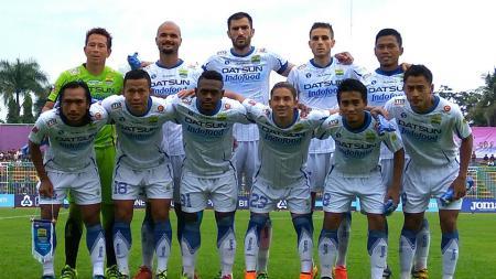 Skuat Persib Bandung saat menghadapi PSGC Ciamis, Senin (26/09/16). - INDOSPORT