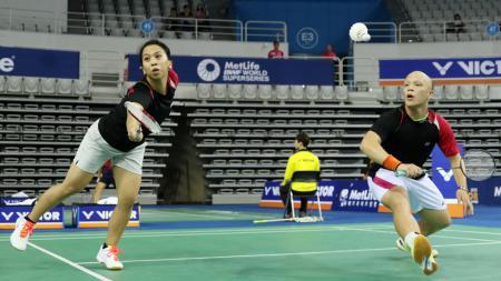 Pasangan ganda campuran Indonesia, Yehezkiel Fritz Mainaky/Lyanny Alessandra Mainaky. - INDOSPORT