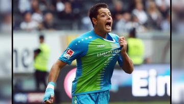 Javier Hernandez, penyerang Bayer Leverkusen.
