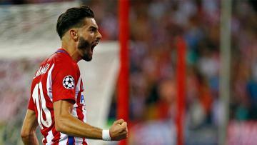 Yannick Carrasco menjadi pembuka keunggulan Atletico Madrid atas Bayern Munchen.