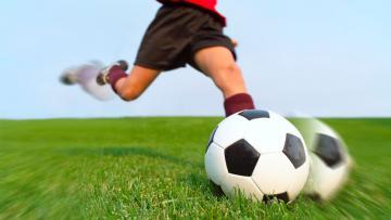 Ilustrasi bola dalam permainan sepakbola