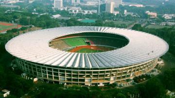 Stadion Utama Gelora Bung Karno tengah direnovasi untuk persiapan Asian Games 2018.