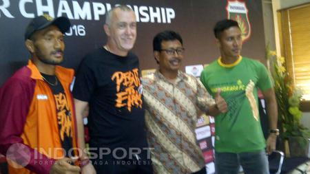 Preskon jelang pertandingan Bhayangkara FC vs PBFC - INDOSPORT