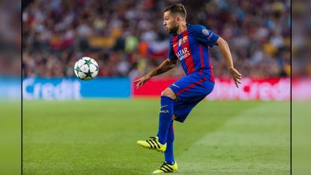 Jordi Alba, bek kiri Barcelona dan Spanyol. - INDOSPORT