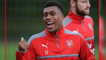 Alex Iwobi, penyerang Arsenal.