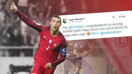 Cristiano Ronaldo diharapkan tak mampu bikin gol saat berhadapan dengan Legia Warsawa. - INDOSPORT