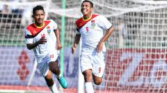Indosport - Selebrasi pemain Timor Leste.