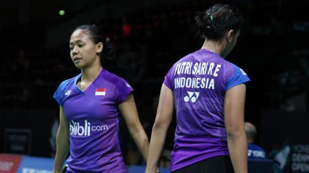 Della Destiara Haris/Rosyita Eka Putri Sari dikalahkan wakil China di perempatfinal Swiss Terbuka 2017. - INDOSPORT