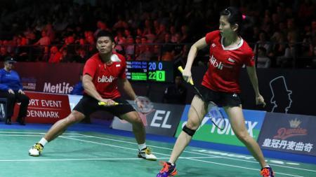 Ganda campuran wakil Indonesia Praveen Jordan / Debby Susanto di Denmark open 2016. - INDOSPORT
