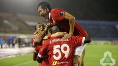 Indosport - Selebrasi pemain Persija Jakarta.