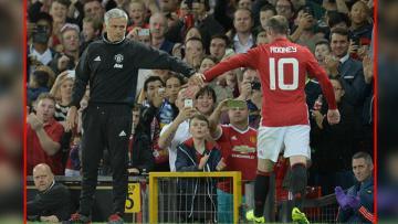 Jose Mourinho (kiri) dan Wayne Rooney