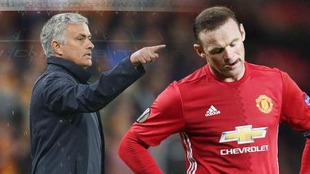 Jose Mourinho salahkan FA yang membiarkan Wayne Rooney mabuk-mabukan. - INDOSPORT