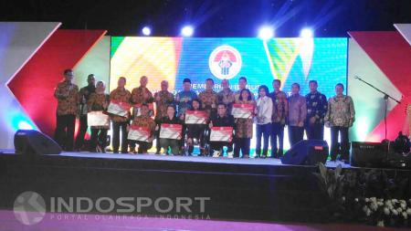 Kemenpora mencairkan bonus atlet peraih Olimpiade dan Paralimpiade 2016 di Cibubur, Rabu (02/10/16). - INDOSPORT