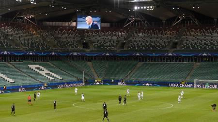 Stadion milik Legia Warszawa, Polish Army tak ada penonton saat pertandingan Liga Champions 2016/17 melawan Real Madrid. - INDOSPORT