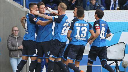Hoffenheim menjadi satu-satunya tim yang berlum terkalahkan hingga saat ini, dari seluruh klub di enam liga top Eropa. - INDOSPORT