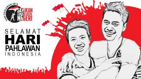 Pasangan Owi/Butet menjadi salah satu pahlawan olahraga Indonesia. - INDOSPORT