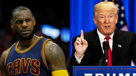 LeBron James dan Donald Trump. - INDOSPORT