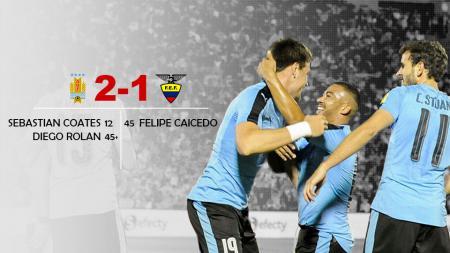 Tuan rumah Uruguay, berhasil taklukan Ekuador dengan skor 2-1. - INDOSPORT