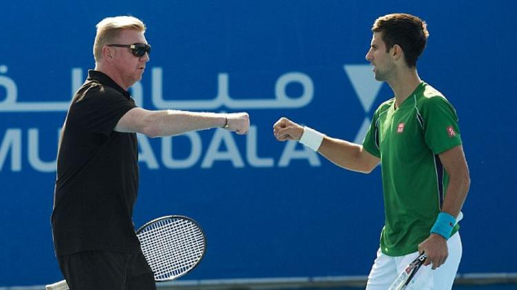 Boris Becker dan Novak Djokovic Copyright: Internet