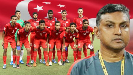 Varadaraju Sundramoorthy dan skuat Tim Nasional Singapura. - INDOSPORT