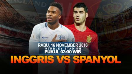 :Laga persahabatan Inggris vs Spanyol. - INDOSPORT