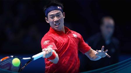 Kei Nishikori saat berlaga di ATP World Tour Finals 2016. - INDOSPORT