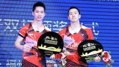 Indosport - Ganda Putra Indonesia, Kevin Sanjaya Sukamuljo/Marcus Fernaldi Gideon akan berhadapan dengan Takuro Hoki/Yugo Kobayashi di babak pertama China Open 2019.