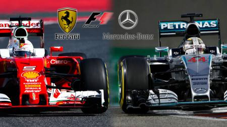 Dua pembalap Mercedes, Lewis Hamilton dan Valtteri Bottas, bisa menjadi mimpi buruk bagi tim Scuderia Ferrari di Formula 1 (F1) 2020. - INDOSPORT