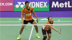 Indosport - Ganda campuran Indonesia, Alfian Eko Prasetya/Annisa Saufika harus angkat koper lebih cepat dari Thailand Masters 2020.