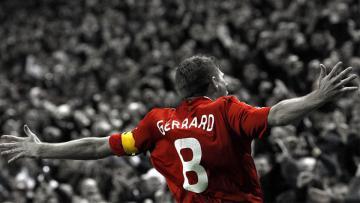 Steven Gerrard saat masih memperkuat Liverpool.