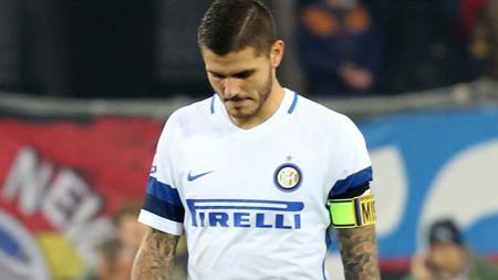 Mauro Icardi tak puas dengan kemenangan 3-2 Inter Milan atas Fiorentina. - INDOSPORT