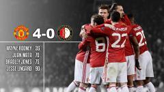 Indosport - Manchester United berhasil mencukur Feyenoord empat gol tanpa balas dalam laga yang berlangsung di Old Trafford (25/11/16).