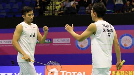 Rian Agung Saputro/Mohammad Ahsan akan menghadapi sesama wakil Indonesia di babak dua Malaysia Masters 2017. - INDOSPORT