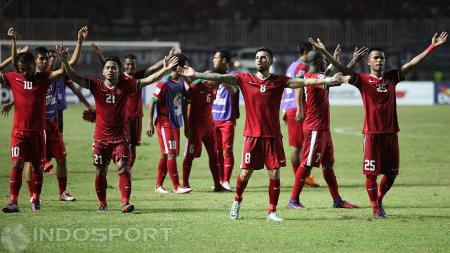 Selebrasi pemain Timnas Indonesia usai mengalahkan Vietnam pada Piala AFF 2016 lalu. - INDOSPORT