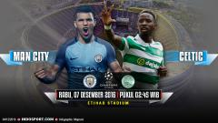 Indosport - Manchester City vs Glasgow Celtic.