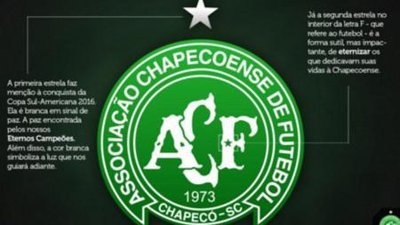 Chapecoense menempatkan dua bintang di logo terbarunya. - INDOSPORT
