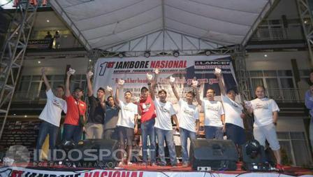 Peserta komunitas Lancer of Indonesia di acara Jambore Nasional.