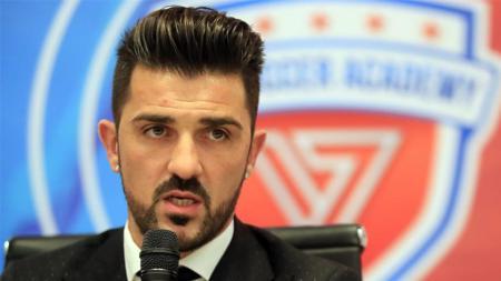 David Villa meresmikan akademi sepakbola di Seoul, Korea Selatan. - INDOSPORT