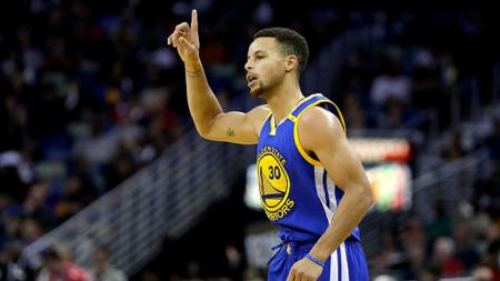 Penggawa Golden State Warriors, Stephen Curry. - INDOSPORT