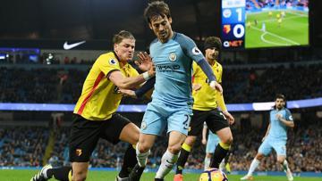 Gol David Silva di menit 86 memastikan kemenangan Man City atas Watford.