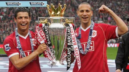 Christiano Ronaldo dan Rio Ferdinand. - INDOSPORT