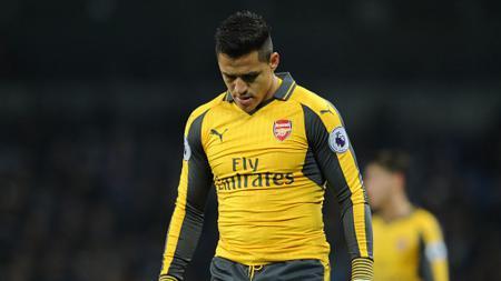 Alexis Sanchez pada laga antara Arsenal dan Manchester City (19/12/16). - INDOSPORT