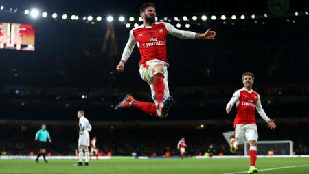 Olivier Giroud, striker Arsenal. - INDOSPORT