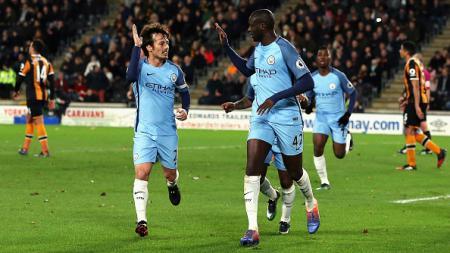Manchester City menang 3-0 atas Hull City di pekan 18 Liga Primer Inggris. - INDOSPORT