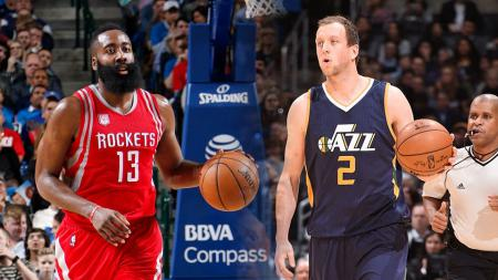 James Harden dan Joe Ingles. - INDOSPORT