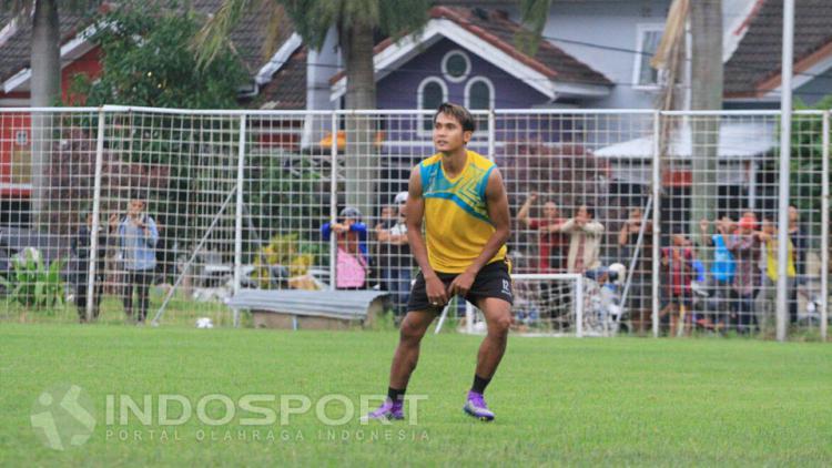 Hendro saat mengikuti latihan Arema FC Copyright: Ian Setiawan/INDOSPORT