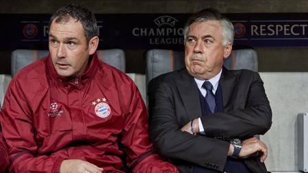 Assisten pelatih, Paul Clement (kiri) dan Carlo Ancelotti - INDOSPORT